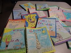 Nonfiction text feature books.  Each student researched an animal and made their own nonfiction books featuring text features.  The students loved this project!
