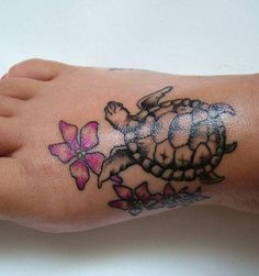 Eventually, I might get a turtle tattoo on my foot. or a frog...or a dragon...anything really ;o) but this is CUTE