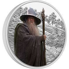 Wise and valiant, Gandalf the Grey from THE LORD OF THE RINGS™ features on this intricately engraved 1oz silver coin. The coin shows a detailed engraving of the Shire, with the powerful wizard in colour in the foreground. Disney Stars, Gandalf, Effigy, Sideshow Collectibles, Coin Collecting, Lord Of The Rings, Elizabeth Ii, Silver Coins, New Zealand