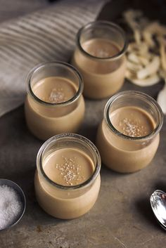 Salted Caramel Coconut Panna Cotta @TastyYummies. Gluten free, paleo, vegan option