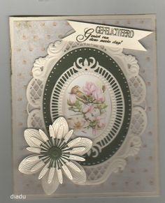 Voorbeeldkaart - bloem - Categorie: Scrapkaarten - Hobbyjournaal uw hobby website
