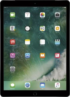 Apple - 12.9- Inch iPad Pro with Wi-Fi + Cellular - 128 GB (Verizon Wireless) - Space Gray