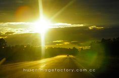 Road Trip- Sunset by Huron Image Factory, via Flickr Northern Lights, Road Trip, Country Roads, Sunset, Nature, Travel, Life, Image, Style
