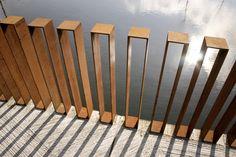 CorTen steel railing for a contemporary vibe