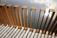 CorTen steel railing for a contemporary vibe
