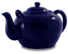 Cobalt Porcelain Large Teapot 75oz http://www.englishteastore.com/cobalt-porcelain-teapot.html