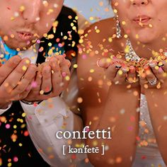 You're never too old to make a mess with confetti. #decor #wedding #yellow
