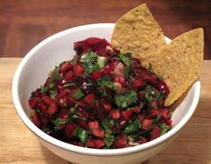 Pin for Later: Time to Get Picking! Sweet, Savory, and Healthy Cherry Recipes Cherry Salsa Cherry Salsa, Fruit Salsa, Cherry Recipes, Fruit Recipes, Summer Recipes, Food Network Recipes, Cooking Recipes, Vegetarian Cooking, Sauces