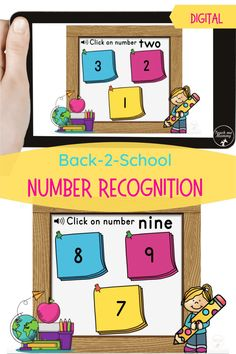 Number recognition digital resource- boom cards. #digitallearning #teachmemommydotcom Learning Cards, Learning Numbers, Learning Resources, Fun Learning, Teaching Kids, Hands On Activities, Craft Activities For Kids, Kids Crafts, Math Manipulatives