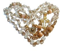 Upcycled Catholic rosary  'Loaves and Fishes' $40 - use coupon code PIN15 to save 15% now. Just CLICK pic!