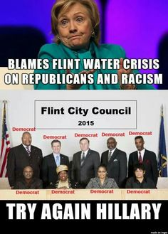 Meme Perfectly Displays The Left's Hypocrisy On Flint Water Crisis Liberal Hypocrisy, Liberal Logic, Politicians, Stupid Liberals, Liberal Agenda, Socialism, Out Of Touch, Sandy Hook, Sick