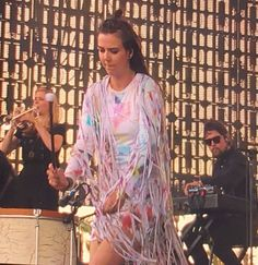 Nanna Bryndís Hilmarsdóttir plays drums, Of Monsters And Men, at COACHELLA FESTIVAL, Indio, California.