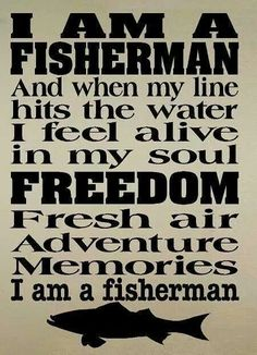 wall decal Fisherman moto fishing man cave decal for men decal boy sport decal…