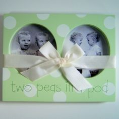Twins Two Peas in a Pod Picture Frame Baby's Room Nursery Baby Shower Gift #Kidsline