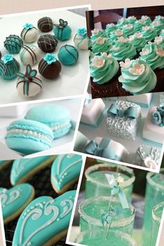 Tiffany blue mini desserts