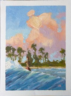 Here is a little 5 x study of a tropical wave. This oil painting is on Huelle Oil paper.not canvas. The paper is archival and is great to paint on. Jim for more information. Limited Edition Prints, Art Oil, Vintage Posters, Giclee Print, Wave, Tropical, Study, Fine Art, Canvas
