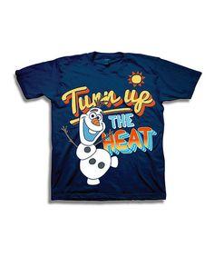 Look at this #zulilyfind! Navy Olaf 'Turn Up the Heat' Tee - Toddler & Boys by Frozen #zulilyfinds