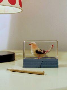 Vintage Pencil Sharpener Bird sealed inside a by LaLanterne