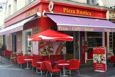 Colorful Pizza Rustica Paris