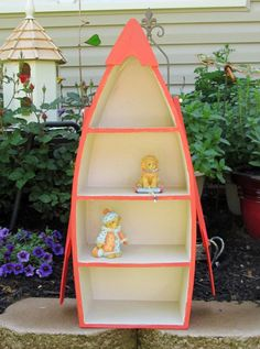 Canoe Shelf Hanging Boat Nautical Decor Small Curio Cottage Chic For Lake House