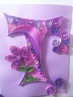 Still practicing my quilling. I think I'm doing good so far. Doing all my granddaughters first initials.