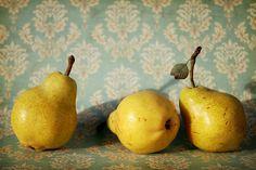pear still life Still Life 2, Still Life Fruit, Be Still, Still Life Pictures, Fruit Painting, Painting Still Life, Fruit Art, Fruit And Veg, Mellow Yellow