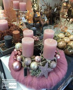 Dieser tolle Adventskranz ist ein besonderer Augenschmaus!  https://www.zeitzone.de/wohnen-und-deko/jahreszeitliche-dekoration/weihnachten/