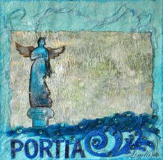 Portia.   Tokeloshe Roman Columns, Mist Spray, Travel Scrapbook, Scrapbooks, Altered Art, Ephemera, Mists, Fashion Art, Fun Facts