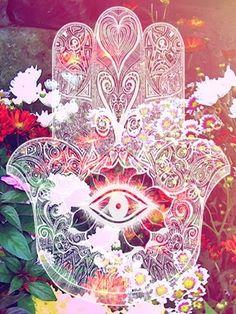 Hand of fatima / Die Hand der Fatima ॐ Hand Der Fatima, Psy Art, New Energy, Hamsa Hand, Psychedelic Art, Sacred Geometry, Chakras, Trippy, Oeuvre D'art