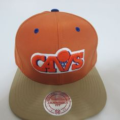 New NBA Mitchell  amp  Ness Cleveland Cavaliers Strapback Snapback Hat Cap  Orange  NewEra   23dc606d8cd8