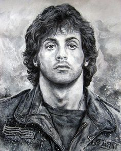 I just think there are to many caricatures of Stallone, but seems very few formal portraits of him. So I did this one. Thanks for watching and comments!