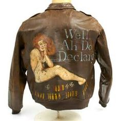 ... - Wwii Leather Bomber Flight Jackets B 17 Nose Art Custom Art Wwii