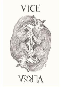 Illustration - 2019 (c) Marta Bertello Vice Versa Latin Phrases, It Works, Blues, Lion Sculpture, Statue, Illustration, Art, Art Background, Illustrations
