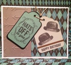 The Patterned Paper Place: Hats Off To You Birthday Card