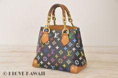 Louis Vuitton Monogram Multicolor Black Audra Hand Bag M40048