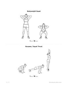 Full Body Burner At Home Workout For Men Women