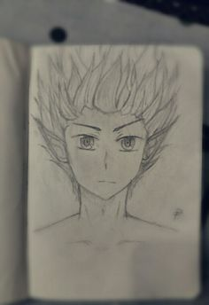 My First Fantasy Manga Face, I experimented with hair, please tell me what is wrong or what should i change - i'm learning from it
