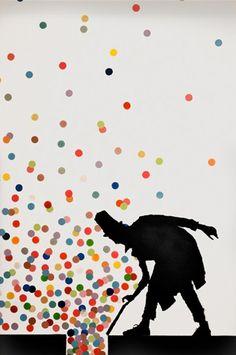 Petits éclats silencieux de mots jetés par la fenêtre des idées.  Quelle von Kenny Random in Padua (Italien). Mehr Werke nach Antippen des Bilds und auf http://www.kennyrandom.com/kennyrandom/Oudoors.html