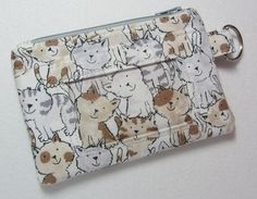 ID Wallet / ID Holder / Keychain Wallet / by EarlyBirdStitches