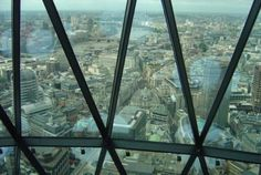 Bank, the heart of financial district in the City of London, photographed from the top floor of The Gherkin, 30 St Mary Axe. Fan Yang, 30 St Mary Axe, Advanced English, English Course, London City, Train, Strollers