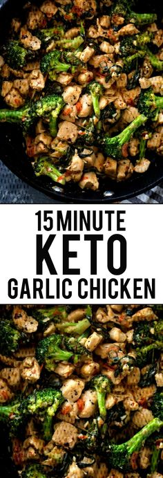 This 15 minute keto garlic chicken with broccoli and spinach is delicious and tasty ! …, # 15 minute broccoli This 15 minute keto garlic chicken with broccoli and spinach is delicious and tasty ! Ketogenic Diet Meal Plan, Ketogenic Diet For Beginners, Ketogenic Recipes, Diet Recipes, Chicken Recipes, Healthy Recipes, Recipes Dinner, Chicken Meals, Broccoli Recipes