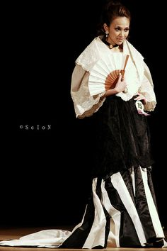 Maria Clara, one of Philippine's national costumes, is strongly influenced by Spain.