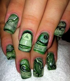 Just because you have no money in your pocket, does not mean it is ok to have it your nails... Ghetto much?