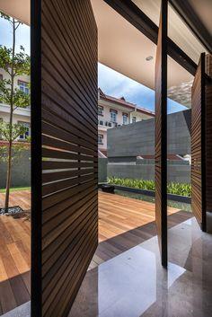 Indoor Outdoor - Backyard Patio - Entryway Ideas - Pivot Doors - Modern Design