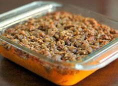 Welcome Home: ♥ Sweet Potato Casserole with Pecan Streusel Topping