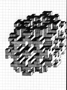 Graph Paper Art | Paper art, Graph paper and Graph paper art