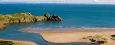 Caravans & Camping   Three Cliffs Bay Holiday Park - Gower Camping