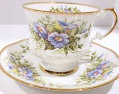 Royal Windsor Tea Cup and Saucer Carnation Tea Cup Floral