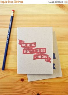 HOOPLA SALE You Gotta Risk It Biscuit Eco Sketchbook, travel notebook, travel diary, bullet journal, funny notebook, quote journal, stapled by Earmark
