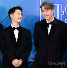 I love to see them wearing suits, even more if they are smiling like this😍😍 . Kaisoo, Chanyeol, Chanbaek, Kyungsoo, Cute Bunny Pictures, Exo Couple, Celebrity List, Fandom, Wattpad